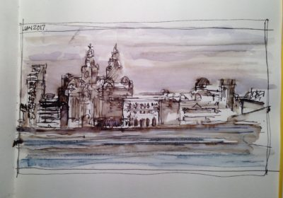 Looking Across to the Liverpool Waterfront