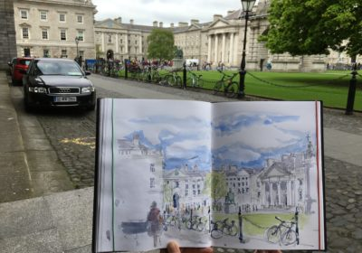 Sketch of Trinity College Dublin