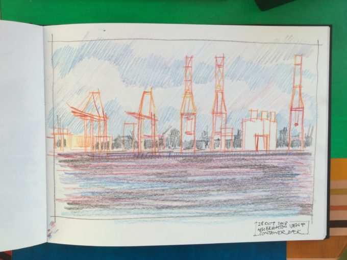 with Wirral Urban sketchers