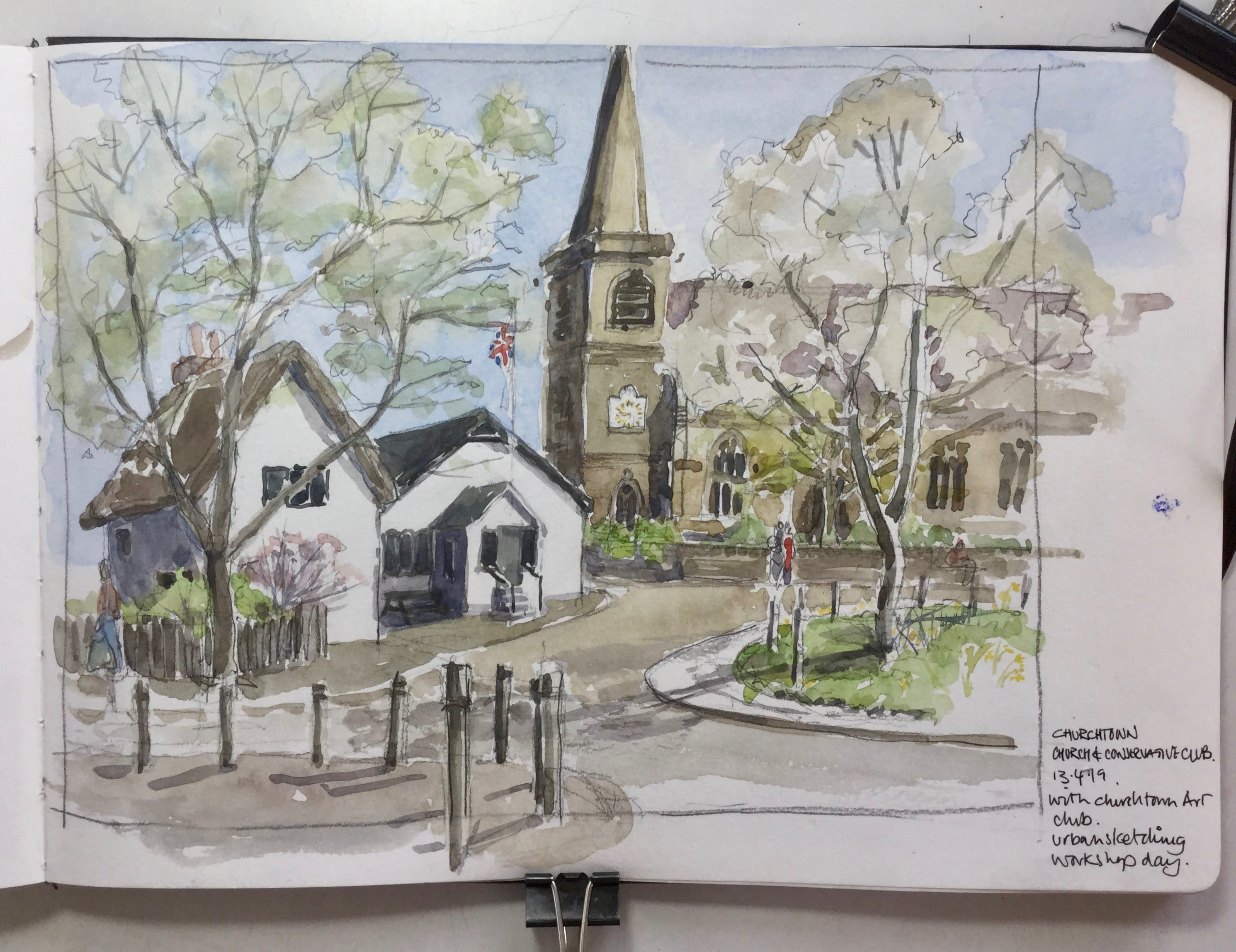 Sketch of Churchtown, Southport
