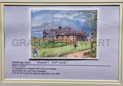 Greetings Card. Wallasey Golf Club , clubhouse.