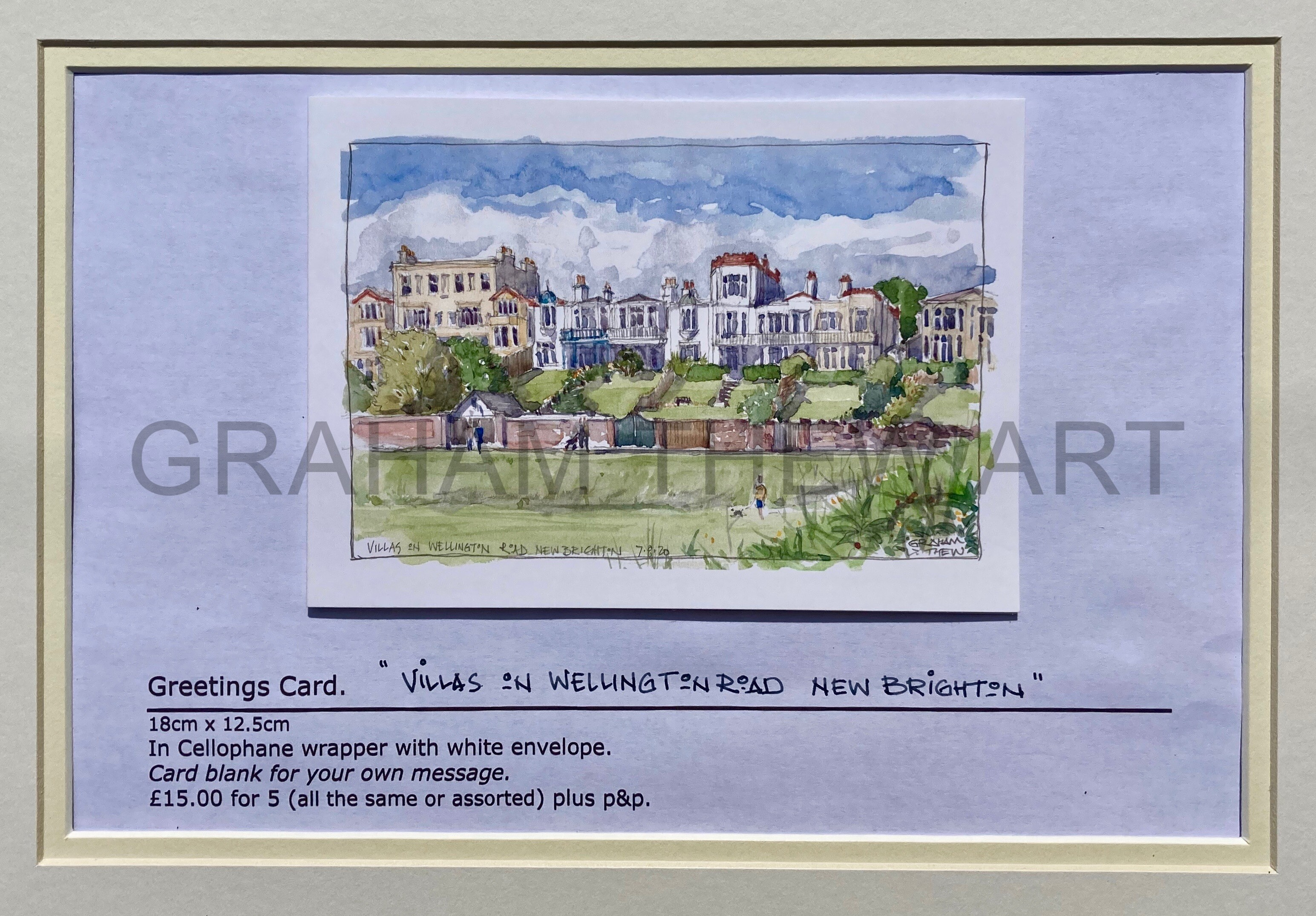 Greeting cards: Wellington Road, New Brighton