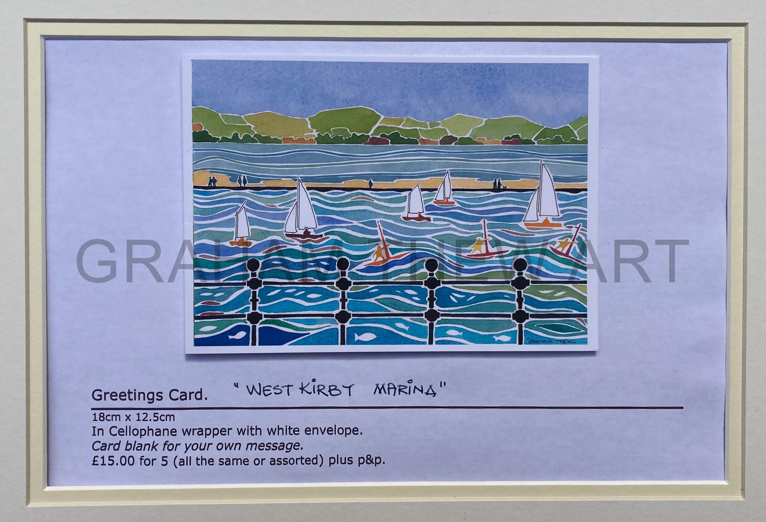 "Greetings Card: ""West Kirby Marina"""