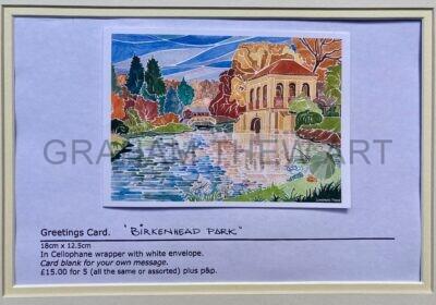 Greetings Card. Birkenhead Park