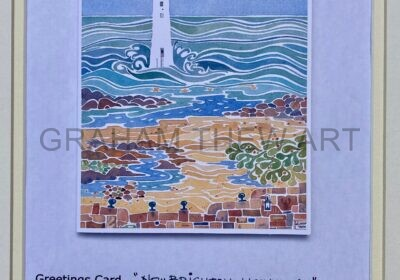 Greetings Card: New Brighton Lighthouse
